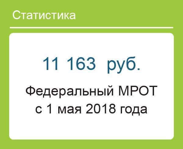 МРОТ с 1 мая 2018 года в России