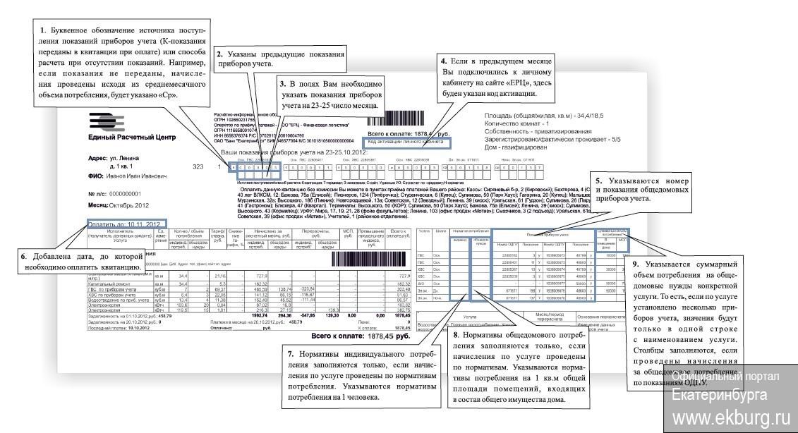 Разделы и информация в новой платежке ЖКХ с 1 июня. Что и где найти