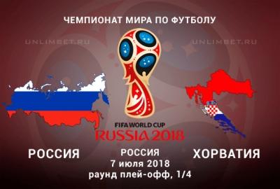 Россия сыграет с Хорватией в 1/4 финала ЧМ-2018. Когда, где, во сколько, билеты, ставки прогнозы