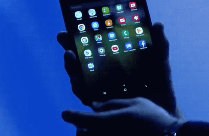 Смартфон, который можно сложить пополам. Смотреть видео презентации